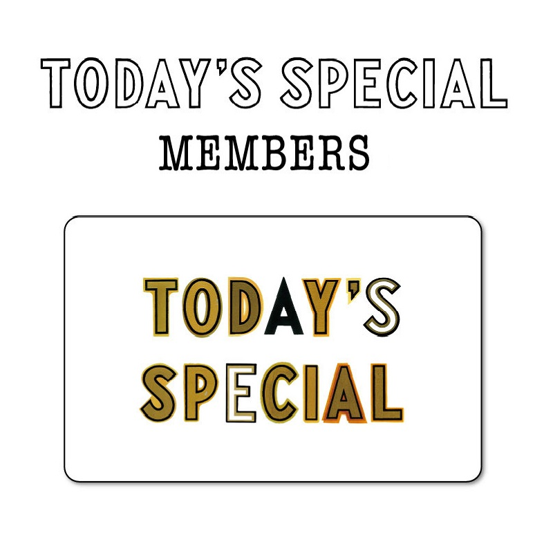 TODAY'S SPECIAL MEMBERS がさらに使いやすくなりました