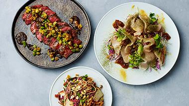 秋の味覚を味わう、アジア料理