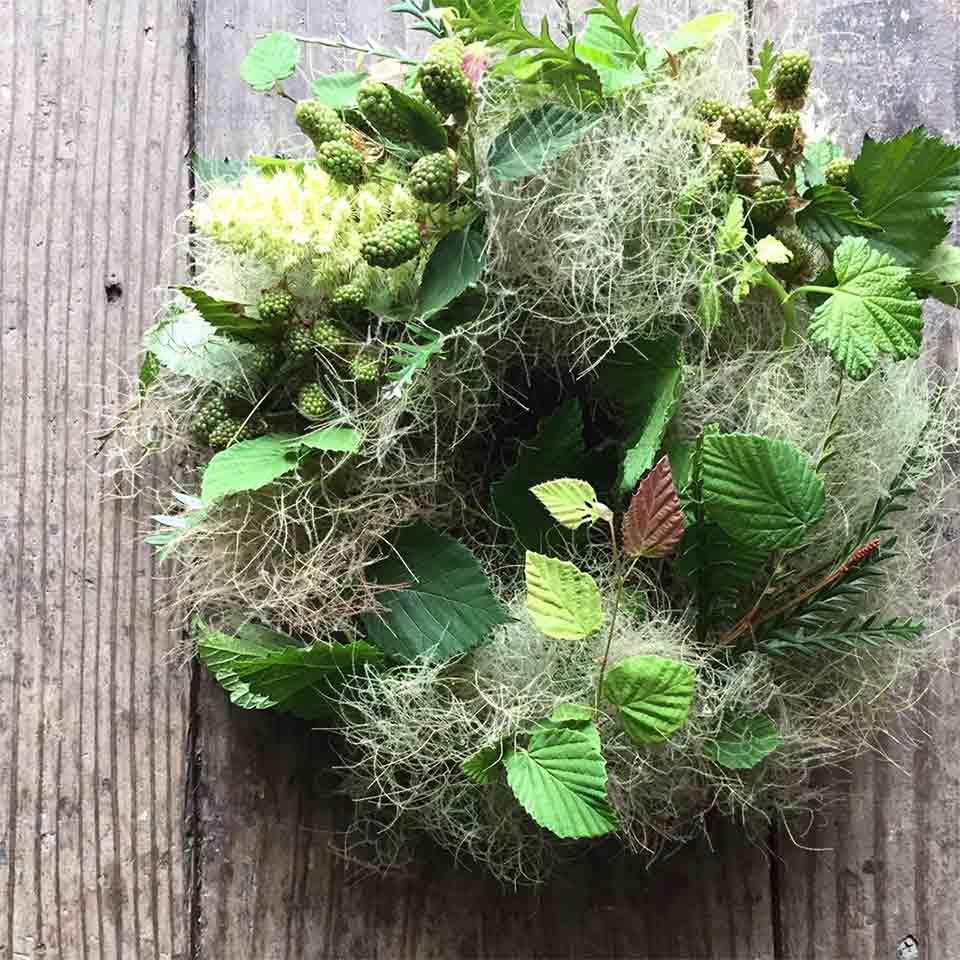 FLOWER griotte スモークツリーのリースつくり ワークショップ